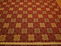 3 3/8 yards Raphael's Medallion Scarlet Upholstery Fabric by Stroheim