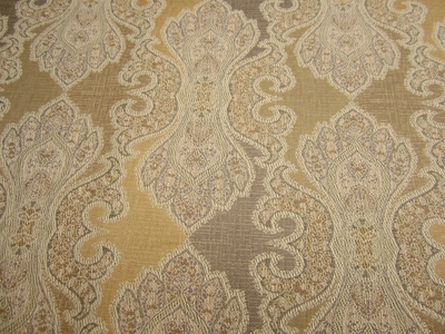 "3 yards of ""Derrington"" champagne damask upholstery fabric"