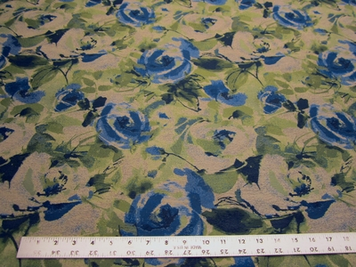 4 1/2 yards of Fabricut Cezanne royal floral upholstery fabric