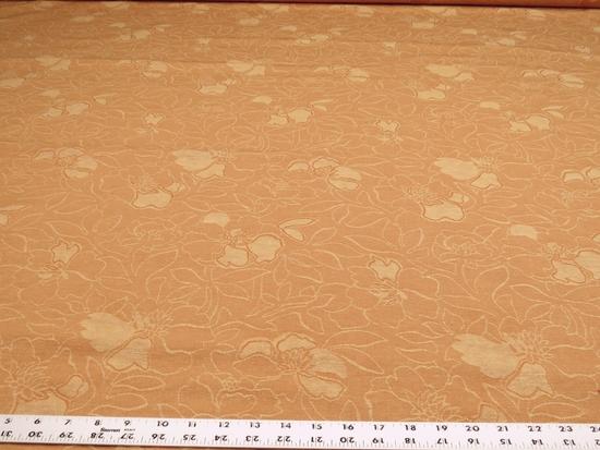 4 1/2 yards of flower blossom pattern upholstery fabric