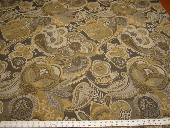 4 1/2 yards of paisley floral upholstery fabric r1894