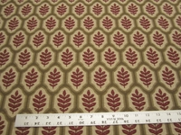 4 1/2 yards Stroheim Piedmont Leaf Scarlet upholstery fabric