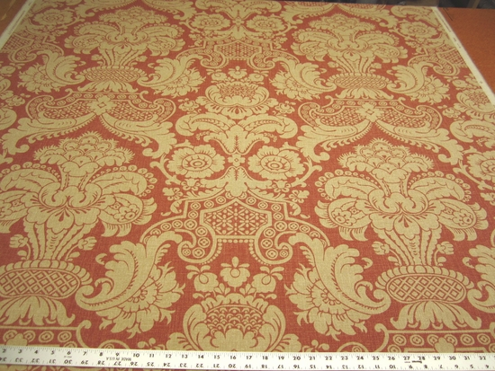 4 1/4 yards of Fabricut Nebrodi color coral upholstery fabric
