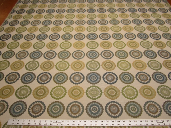 4 1/8 yards of Fabricut Flowersong geometric upholstery fabric