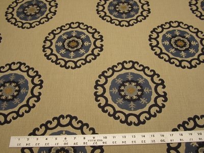 4 1/8 yards of Roman Circle medallion upholstery fabric