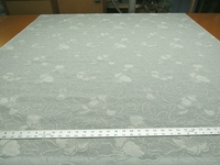 4 3/8 yards of flower blossom pattern upholstery fabric