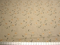 4 3/8 yards of flower embroidered upholstery, drapery fabric