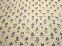 4 3/8 yards of Robert Allen Cloe Flora Cobalt upholstery fabric