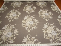 4 3/8 yards of Rosalie floral print cotton drapery fabric