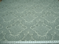 4 3/8 yards of Valencia Damask Chenille Mineral upholstery fabric