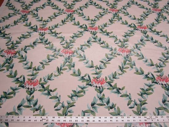 "4 5/8 yards of ""Honeysuckle"" vintage polished cotton print fabric"