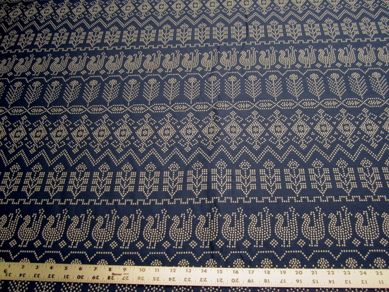 4 5/8 yards of Robert Allen Asterism Cobalt upholstery fabric