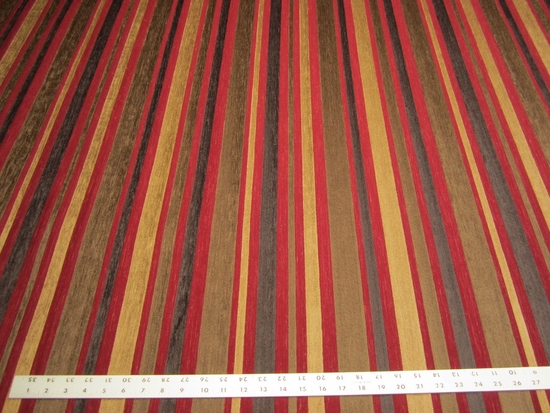 4 5/8 yards textured chenille mix stripe upholstery fabric