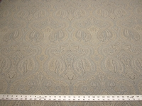 4 yards Marsyl Chambray blue paisley upholstery fabric