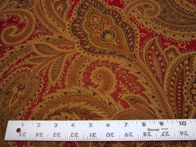 4 yards of Fabricut Vercelli paisley spice upholstery fabric