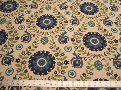 4 yards of Harper Home Veronica Blend Cobalt print fabric r2204