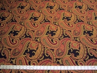 4 yards of paisley jacquard upholstery fabric
