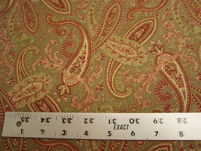 "5 1/2 yards 5th Avenue ""Ballard"" paisley cotton print fabric"