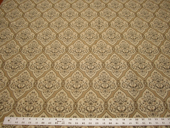 5 1/2 yards of damask pattern upholstery fabric