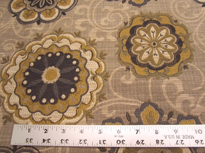 5 1/2 yards of Fabricut Chanterelle medallion tapestry upholstery fabric