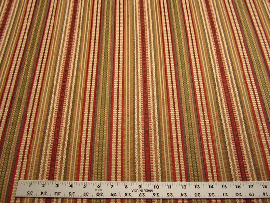 5 1/2 yards of Kravet Chenille mix stripe upholstery fabric