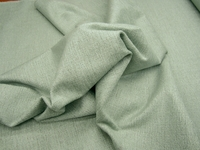 5 1/2 yards of textured surf green chenille upholstery fabric
