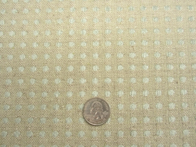 5 3/4 yards aqua chenille dot heavy upholstery fabric