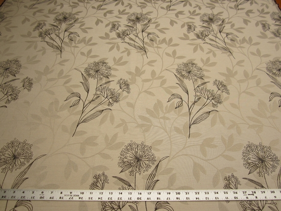 5 3/4 yards of floral jacquard upholstery fabric