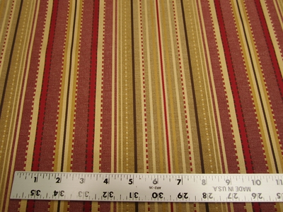 5 3/4 yards of formal stripe upholstery fabric