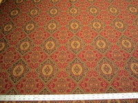 5 3/4 yards of rich patterned upholstery fabric