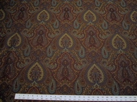 5 3/8 yards Robert Allen Full Paisley upholstery fabric color berry crush