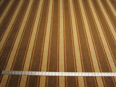 5 5/8 yards of chenille stripe upholstery fabric