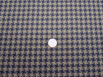 5 5/8 yards of houndstooth check upholstery fabric