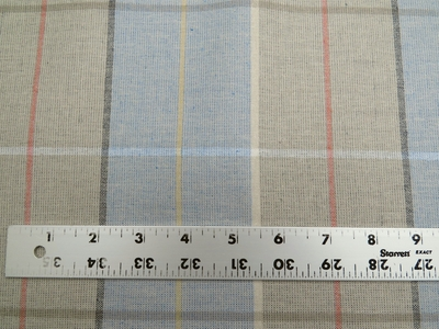 "5 5/8 yards of Marlatex ""Striker"" plaid upholstery fabric"