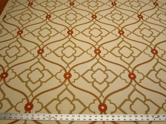 5 yards of Kravet Zuma color ginger embroidered multi purpose fabric