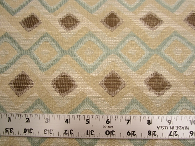 6 1/2 yards of Robert Allen Hombre geometric upholstery fabric