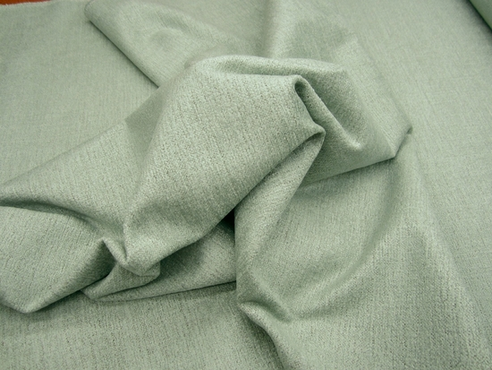 6 1/2 yards of textured surf green chenille upholstery fabric