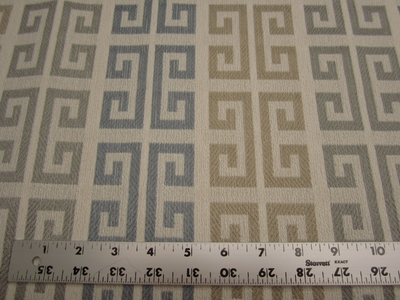 6 1/2 yards Tarlo geometric upholstery fabric color mineral