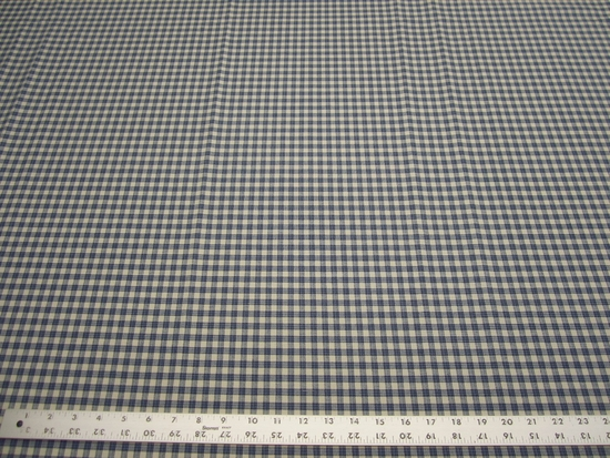 6 1/4 yds P/Kaufmann Highland Check color denim fabric