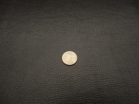 6 3/4 yards black grained bonded leather upholstery fabric