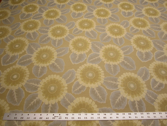 6 3/4 yards of flower pattern crypton upholstery fabric