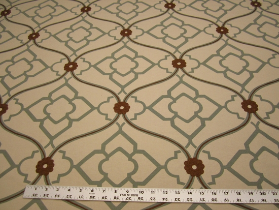 6 3/4 yards of Kravet Zuma color grotto embroidered multi purpose fabric