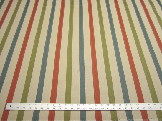6 3/4 yards of mullti stripe upholstery fabric