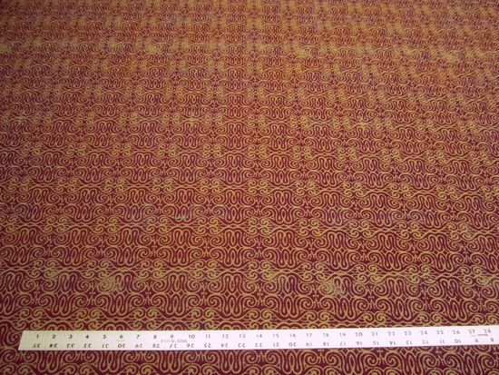 6 yards of merlot swirl patterned upholstery fabric