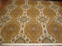 7 1/4 yards of ikat patterned upholstery fabric