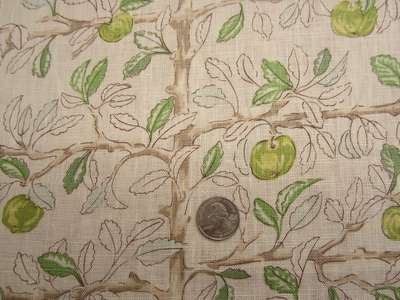 7 3/4 yards of Charlotte Moss Ethel Granny Smith print fabric from Fabricut