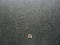 7 3/8 yards charcoal black grained bonded leather upholstery fabric