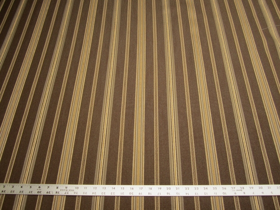 7 3/8 yards of Preston color brown stripe upholstery fabric