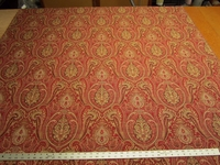 8 1/2 yards of Kravet red rust paisley upholstery fabric r2264
