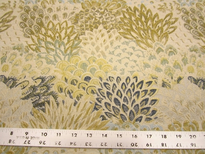 8 1/4 yards Robert Allen Feather Fans zest upholstery fabric